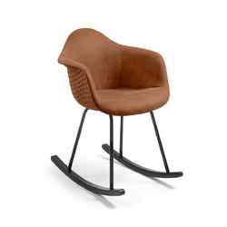 Fotel bujany TOME brązowy - brązowy