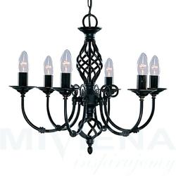Zanzibar lampa wisząca 6 czarna
