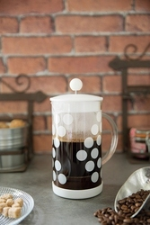 Zak kawiarka 350ml biała dot dot