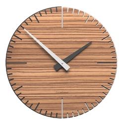 Zegar ścienny exacto calleadesign 36 cm, zebrano 10-025-87