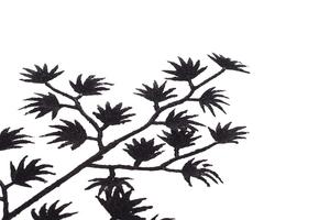 Komplet 3 liści ozdobnych czarne