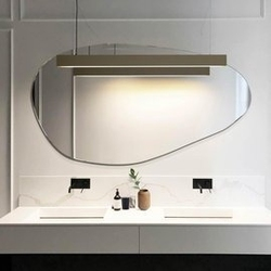 Gieradesign :: lustro dekoracyjne plama no.1 o organicznym kształcie 53x100 cm