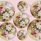 Papier ryżowy decomania 35x50 cm kwiaty tagi