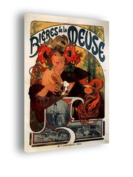 Biéres de la meuse - alfons mucha - obraz na płótnie wymiar do wyboru: 20x30 cm