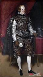filip iv w brązie i srebrze - diego velazquez ; obraz - reprodukcja