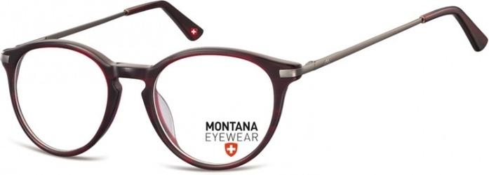 Okrągłe oprawki optyczne,lenonki korekcyjne montana ma63e burgund