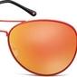 Czerwone aviatory okulary lustrzanki ms95