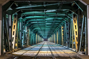 Fototapeta most kolejowy 2135