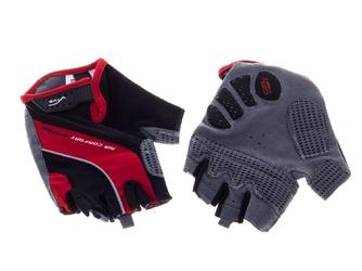 Rękawiczki rowerowe vivo sb-01-7007 d czerwono-czarne