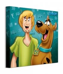 Scooby doo shaggy  scooby - obraz na płótnie