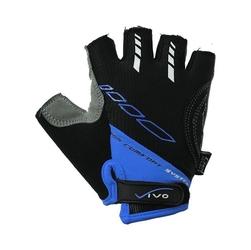 Rękawiczki rowerowe vivo czarno-niebieskie sb-01-5021-d