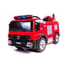 Straż pożarna na akumulator dla dziecka + akcesoria strażackie