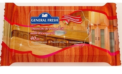 General fresh, chusteczki do pielęgnacji mebli drewnianych, 40 sztuk