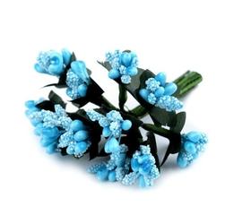 Pręciki do kwiatów ryżyk 12 szt. - niebieski - niebieski