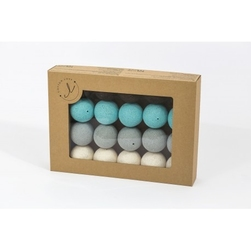 Świecące kule cotton balls lazurove