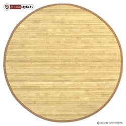 Mata bambusowa, dywanik bambusowy okrągły w kolorze naturalnym 120 cm