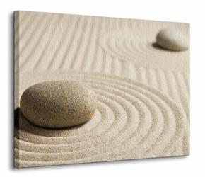 Wzory na piasku IV - Obraz na płótnie