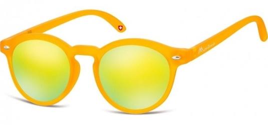 Okulary dziecięce okrągłe  lenonki lustrzane cs73d