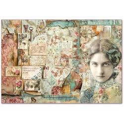 Papier ryżowy stamperia 48x33 cm kobieta vintage