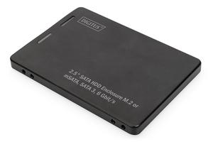 Digitus adapter na dysk satahdd 2,5 m.2 msata sata 3,6 gbits, zapis do 520 mbs aluminiowa