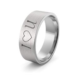 Obrączka srebrna i love you - wzór ag-386
