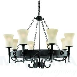 Cartwheel lampa wisząca 8 czarno-brązowy odcień szkło scavo