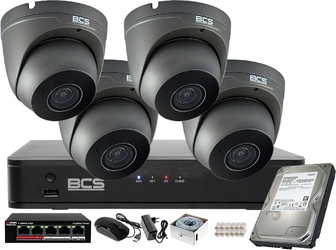 H.265 monitoring zestaw do sklepu domu firmy bcs 4mpx bcs-p-262r3wsm-g
