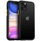 Etui alogy matowe bumper case do apple iphone 11 pro czarne + szkło alogy - żółty || czarny