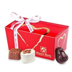 Ballotin red no.2 z sercem. czekoladki
