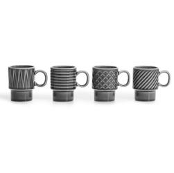 Filiżanki do espresso, szare 4 szt. coffee sagaform