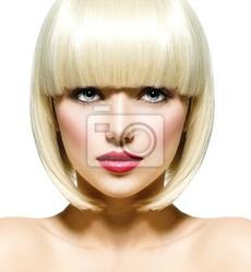 Obraz fashion stylowy portret beauty. piękna twarz dziewczyny close-up