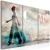 Obraz - create yourself - tryptyk