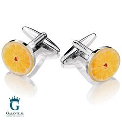 Spinki do mankietów x2 orange fruit