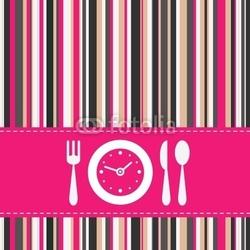 Plakat na papierze fotorealistycznym pora obiadu