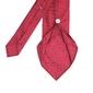 Jedwabny czerwony krawat profuomo imperial oxford 7 fold