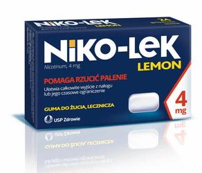 NIKO-LEK Lemon 4mg x 24 gumy do żucia