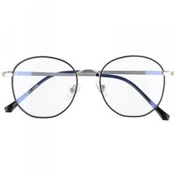 Okulary lenonki owalne z filtrem blue light do komputera zerówki 2538-2