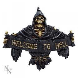 Welcome to hell - zawieszka ze szkieletem