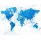 Naklejka ilustracja mapa świata z największych miast na świecie