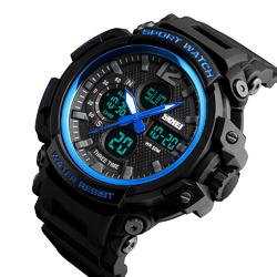 Zegarek MĘSKI SPORTOWY LED SKMEI 1343 blueblack - blueblack