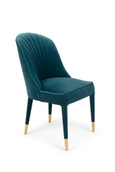 Bold monkey krzesło give me more velvet niebieskie bm11001