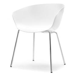 Krzesło na taras rever białe nowoczesne