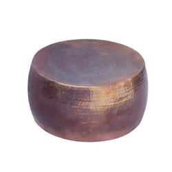 Stolik kawowy z młotkowanego aluminium optik  podpalana miedź 60 cm