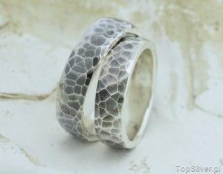Love - srebrna ręcznie robiona obrączka ślubna