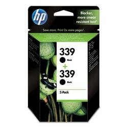 HP oryginalny ink C9504EE, No.339, black, 1600 2x800s, 2x21ml, HP 2-Pack, C8767EE, Photosmart 8150, OJ-7410, DJ-5740