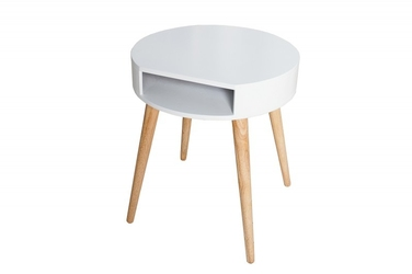 INTERIOR SPACE :: Stolik Astoria Scandi Biały 45cm