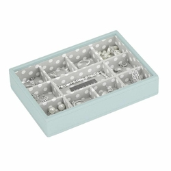 Pudełko na biżuterię 11 komorowe Mini Stackers błękitne