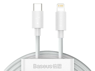 Kabel przewód x2 baseus usb-c type c do lightning pd 20w 1.5m white