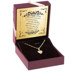Złoty wisiorek serce z cyrkoniami pr.585 urodziny rocznica grawer