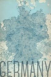 Germany, vintage - mapa